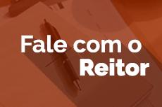 Pra Cego Ver: Mini banner com a imagem de um bloco de anotação com uma caneta e o texto fale com o reitor.