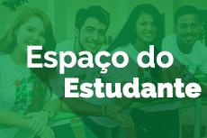 Pra Cego Ver: Mini banner com quatro alunos do IFTO e o texto na imagem Espaço do Aluno