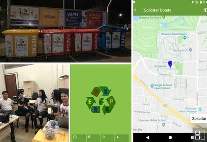 Aplicativo para entrega voluntária de resíduos sólidos