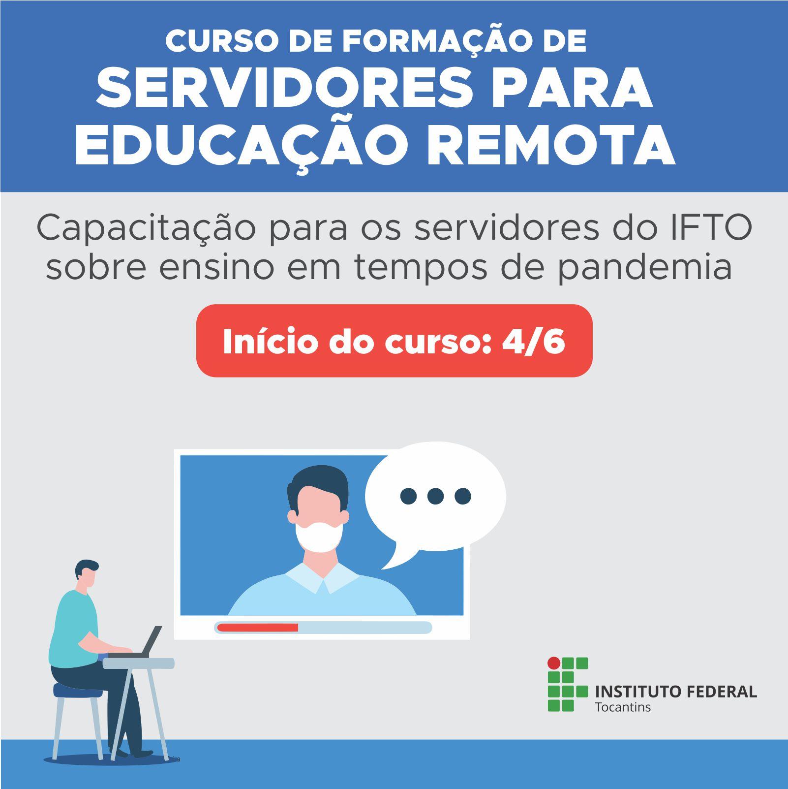 Curso de formação de servidores do IFTO para educação remota