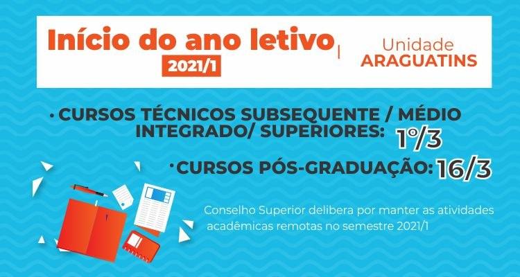 Aulas 2021 - unidade Araguatins