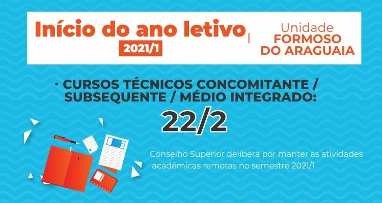 Aulas 2021 - unidade Formoso do Araguaia