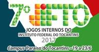 Jogos acontecerão no Campus Paraíso do Tocantins, entre os dias 19 e 23