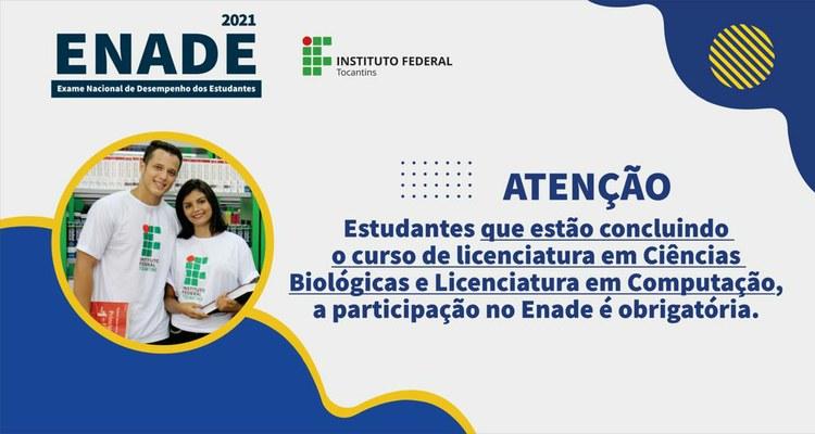 Acadêmicos das licenciaturas em Ciências Biológicas e Computação devem preencher formulário para garantir participação no Enade