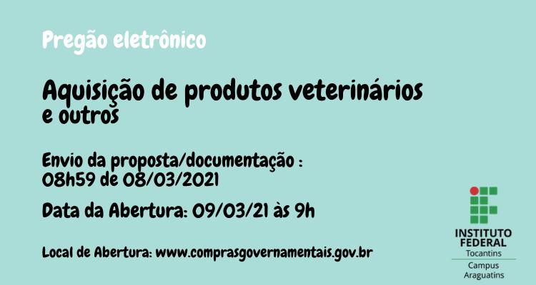Aquisição de produto veterinários e outros