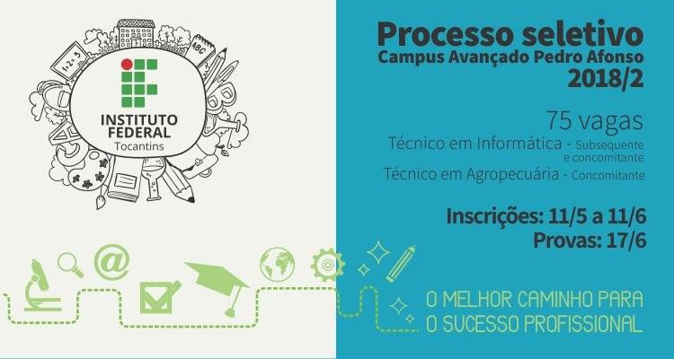 Campus Avançado Pedro Afonso divulga edital