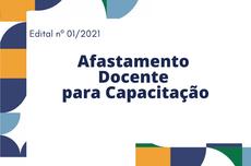#pracegover Afastamento de docentes para capacitação