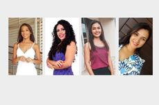 Da esquerda para direita: Lorrane Ribeiro de Souza, Roze Anne Ferreira Lima, Laziane Milhomem de Souza e Delma Pereira da Silva Bernardi