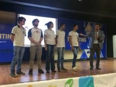 Equipe que representará o IFTO em evento no Japão é apresentado pelo superintendente da Juventude aos participantes do lançamento do ID Jovem