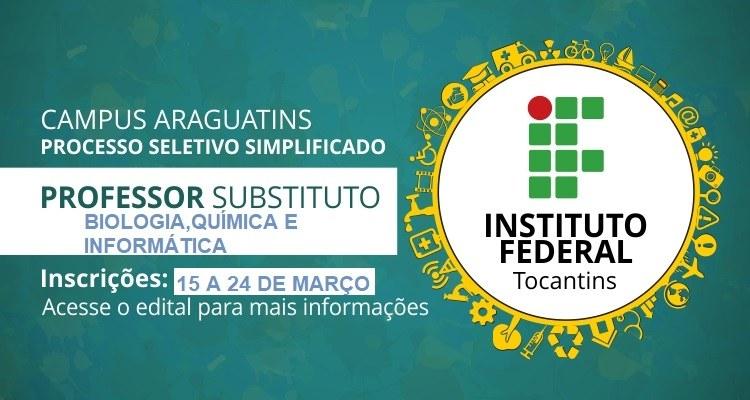Unidade Araguatins contrata professores substitutos