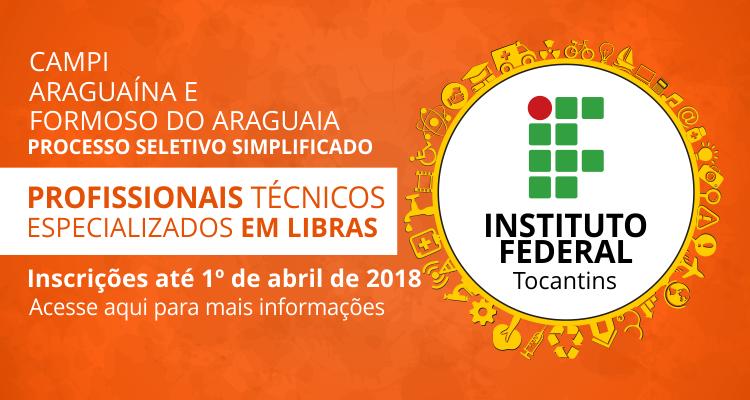 IFTO seleciona técnicos especializados em Libras