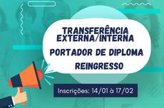 Processo Seletivo - Transferência, portador de diploma e reingresso