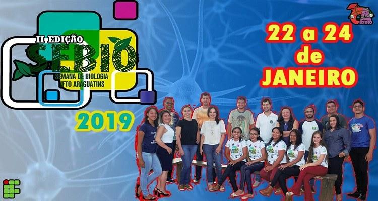 Inscrições para II Semana da Biologia do IFTO seguem até dia 12 de dezembro