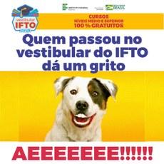 Quem passou no vestibular do IFTO dá um grito.