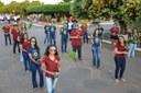 Estudantes durante desfile cívico
