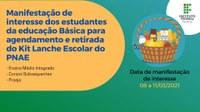 Manifestação de interesse kit lanche PNAE - 08 a 11/03/2021