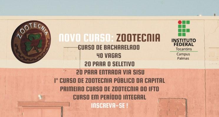 Novo curso do Campus Palmas: Bacharelado em Zootecnia