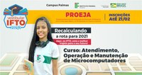 IFTO/Palmas oferta 80 vagas para jovens e adultos concluírem o Ensino Médio com uma qualificação técnica: inscrições até 21/2