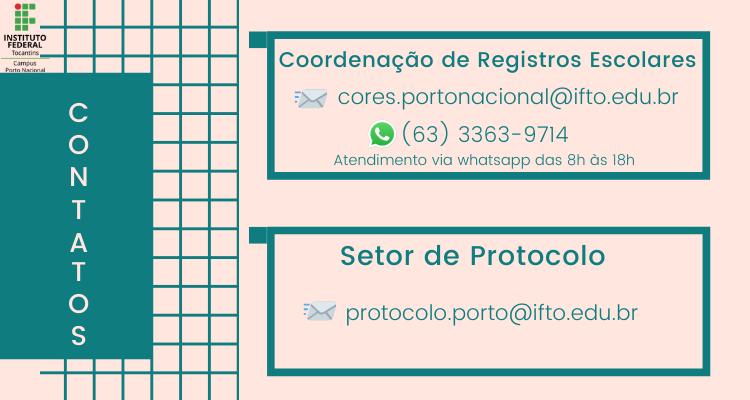 Precisa dos serviços da Cores ou do Protocolo? Anote nossos contatos!